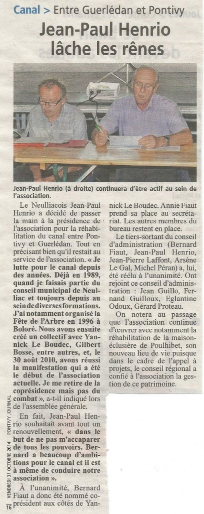 pontivy journal 31 10 14
